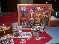 HUGE LOT OF 49ERS COLLETIBLES$500.00 FOOT BALL - 1996