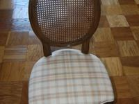 This is a Set of 4 Antique Cherry Dining Chairs w/