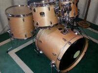 Yamaha stage custom natural finish fusion drum shell