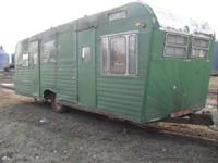 listing this for my brother. old camper made into an