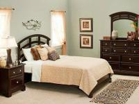 This is a 1 year-old 3-piece bedroom set that was