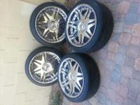 "Da vinci 20"" rims blade II. With tires $600 these rims"