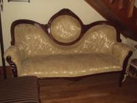 Here is a nice couch if you are big on the Victorian