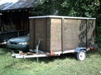 For sale is a home made 6x8 foot utility trailer. The