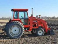 Nice clean tractor, loader has joy stick control, duals