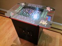 This Cocktail-Table Arcade Machine was custom built 7