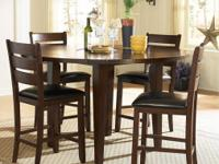 Must See this beautiful pub set! The drop-leaf counter