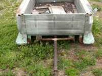 1961 chevy stepside shortbox. made into trailer,