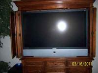 "61"" dlp TV. Flat screen. Good working condition. Moving"