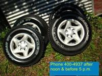 NO TEXTS OR EMAIL! Upgrade to alloys. This set of 16""
