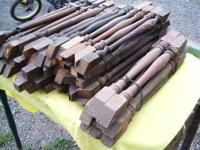 63 old WOOD STAIRCASE SPINDLES. 1.00 each buy one or