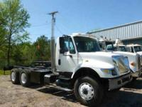 2006 I-H 7400 long wheel base tandem cab and chassis.