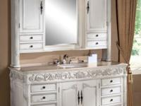 "64"" Darwin Single Sink Vanity with Mirrored Hutch with"