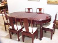 Selling a very nice inlay oriental table and 6 matching