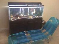 65 gallon tank comes with tank stand, gravel,