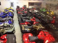 Great selection of ATV's, over 65 used ATV's