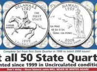 THE COMPLETE UNCIRCULATED 100 COIN SET. EVERY COIN THAT