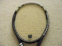 CUSTOM STRUNG; An Oversize Wilson tennis racquet based