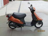 this is a 1998 honda elite moped. It is in excellent