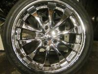 NZO 18 INCH CHROME RIMS 5 LUGS NZO CHROME RIMS - 18 IN