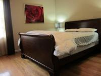 Queen Sleigh solid cherry wood bed for sale. It is in