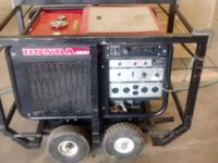 This is a electric start 6500 watt Honda Generator Runs
