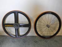 Rear Corima with new continental tubular. Front zipp