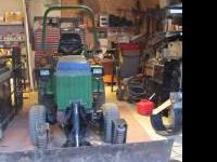 "655 John Deere Tractor 4X4 66"" power angle snow and"