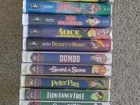 24 Disney classics, 8 Land Before Time movies, 4 Thomas