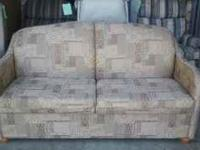 "66"" Hide-a-bed #1496 Beige/Brown Tapestry $380"