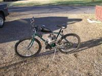 motorized mountain bike. 66cc grubee skyhawk gt5 motor