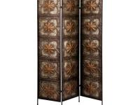 Spice up any home with this 3-panel screen that