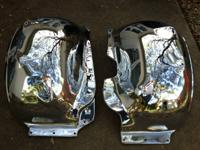 Pair of used chrome inner fender wheel wells for