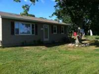 2 bedroom, 1 bath house, 1 level living Nice lot with