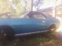 68 AMX NEEDS total Restoration Second owner 66K