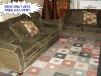 This Two Piece Set From KEVIN CHARLES FURNITURE Offers