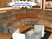 Here is a Stunning Sage MicroFiber Reclining Sectional.