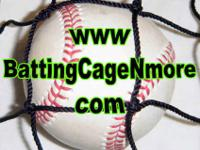#30 batting cage netting 12 ft. x 12 ft. x 60 ft.