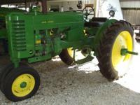 John Deere MT 1951 Farm Tractor Row Crop Restored
