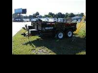 This six X 12 Heavy duty Bri March Dump trailer, can