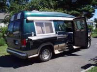 1999 Ford E150, V8 high top, two steamers, 3 propane
