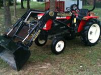 YANMAR 1600 WITH A BULLDOG FRONT-END LOADER. THE 16