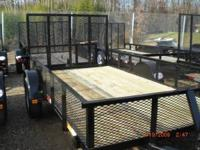"New 2012 6'5"" x 12' utility trailer with 18"" mesh"