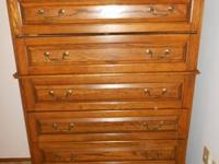 6-Drawer Bassett Tall Dresser Nice. 1 Handle Broke off,