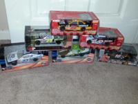 6, 1:24 SCALE NASCAR COLLECOR CARS NEW NEVER OPENED...
