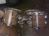 "Shell kit is 10"",12"",13"",16"" toms 22""kickdrum, and 14"""
