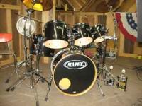 For Sale: 6 Piece Studio Set Mapex Drums. All maple