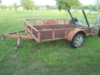 6'X10' TILT TRAILER , SWING JACK, GOOD LIGHTS, METAL