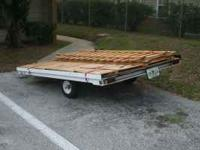 For sale is a 6x8 utility flat bed trailer. It is very