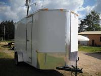 6 X 12 Enclosed Cargo Trailer including the rounded V